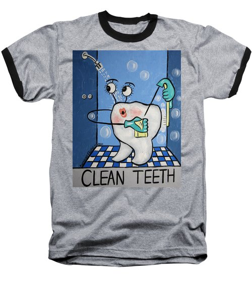 Clean Teeth Baseball T-Shirt