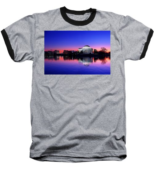 Clear Blue Morning At The Jefferson Memorial Baseball T-Shirt