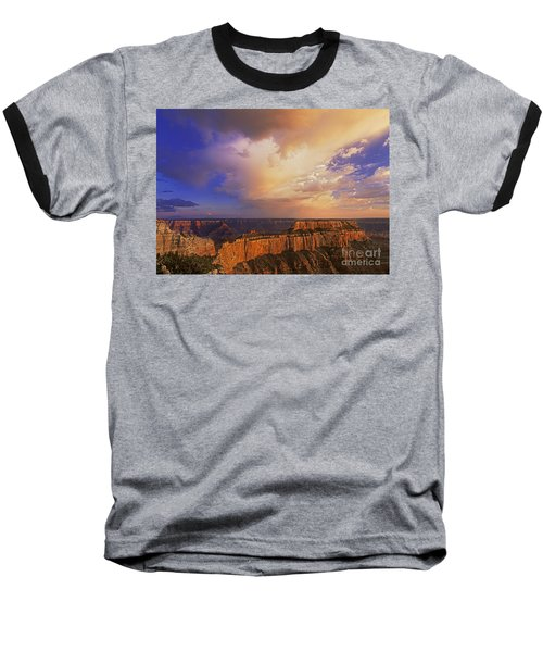 Clearing Storm Cape Royal North Rim Grand Canyon Np Arizona Baseball T-Shirt by Dave Welling