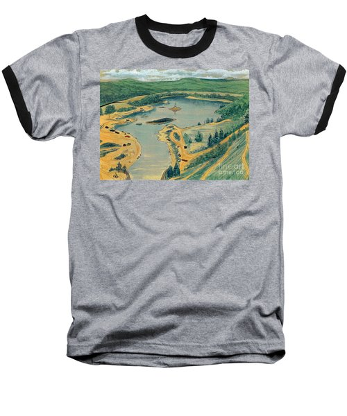 Baseball T-Shirt featuring the painting Clearwater Lake Early Days by Kip DeVore