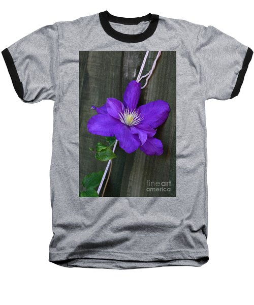 Clematis On A String Baseball T-Shirt