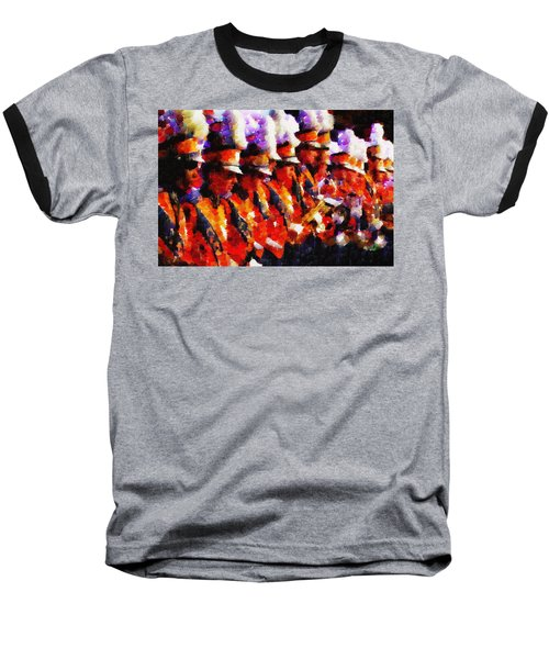 Clemson Tiger Band - Afremov-style Baseball T-Shirt