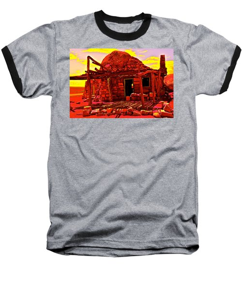 Cliff Dwellers In Red Baseball T-Shirt by Jim Hogg