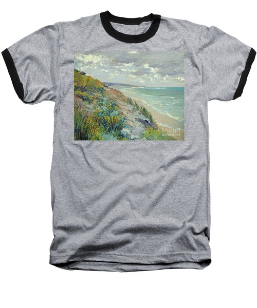 Cliffs By The Sea At Trouville  Baseball T-Shirt