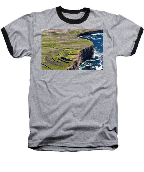 Baseball T-Shirt featuring the photograph Cliffs Of Inishmoore by Juergen Klust