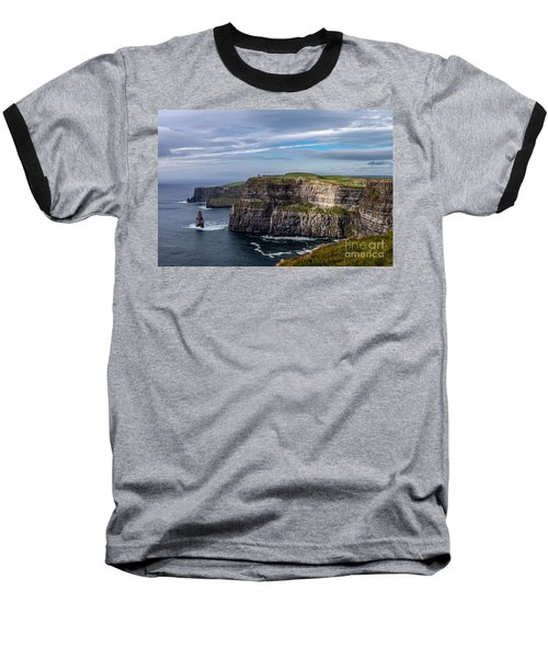 Cliffs Of Moher I Baseball T-Shirt by Juergen Klust