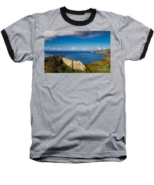 Baseball T-Shirt featuring the photograph Cliffs Of Moher by Juergen Klust