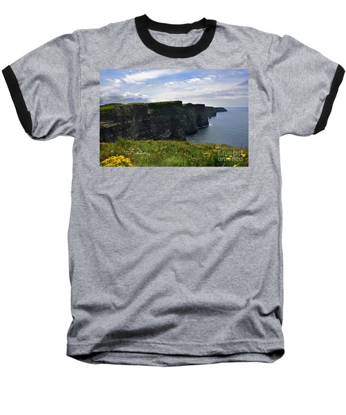Cliffs Of Moher Looking South Baseball T-Shirt by RicardMN Photography