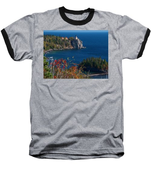 Cliffside Scenic Vista Baseball T-Shirt by James Peterson