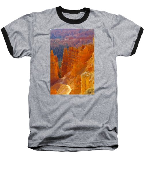 climbing out of the Canyon Baseball T-Shirt by Jeff Swan