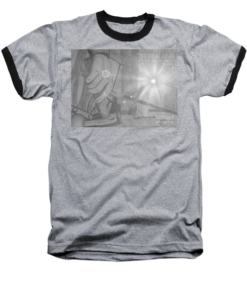 Clinging To The Cross Lights Baseball T-Shirt by Justin Moore