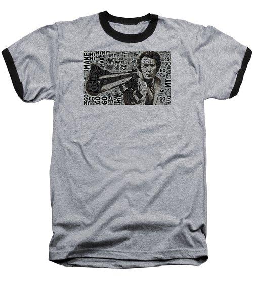 Clint Eastwood Dirty Harry Baseball T-Shirt by Tony Rubino