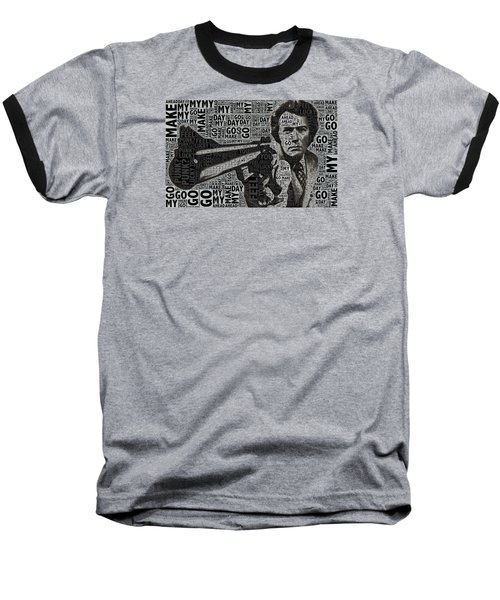 Clint Eastwood Dirty Harry Baseball T-Shirt
