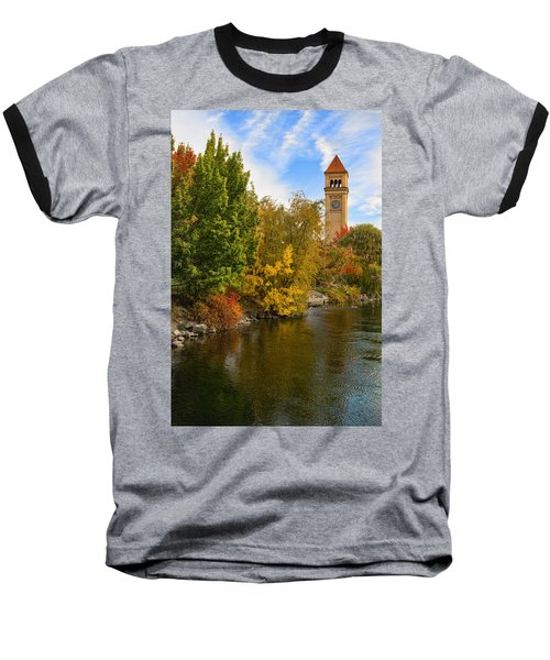 Clocktower In Fall Baseball T-Shirt