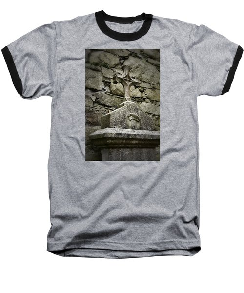 Cloister Cross At Jerpoint Abbey Baseball T-Shirt by Nadalyn Larsen
