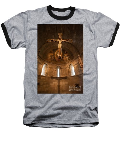 Cloisters Crucifixion Baseball T-Shirt
