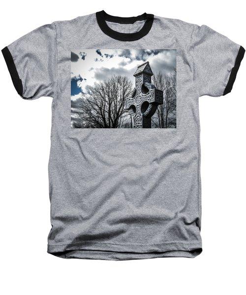Clondegad Celtic Cross Baseball T-Shirt