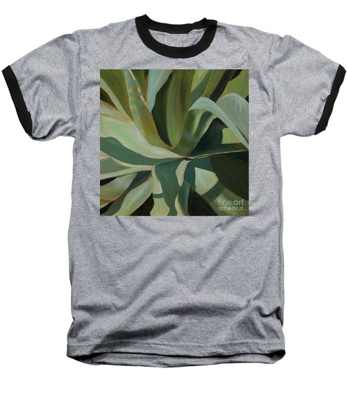 Baseball T-Shirt featuring the painting Close Cactus by Debbie Hart