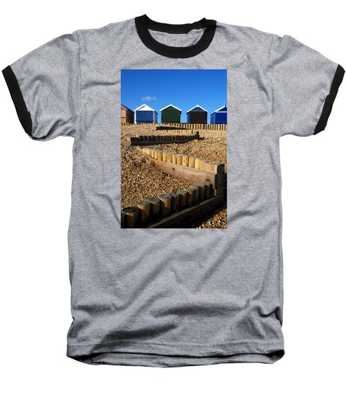 Closed For The Winter Baseball T-Shirt by Wendy Wilton