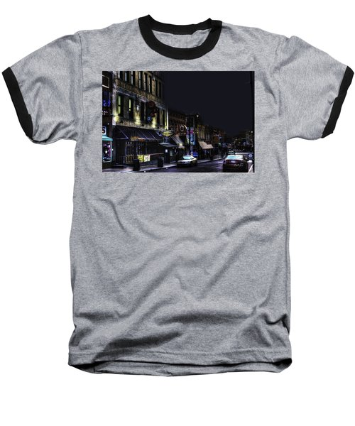 Memphis - Night - Closing Time On Beale Street Baseball T-Shirt