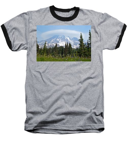 Cloud Capped Rainier Baseball T-Shirt