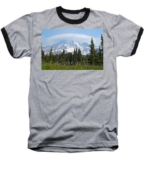 Cloud Capped Rainier Baseball T-Shirt by Tikvah's Hope