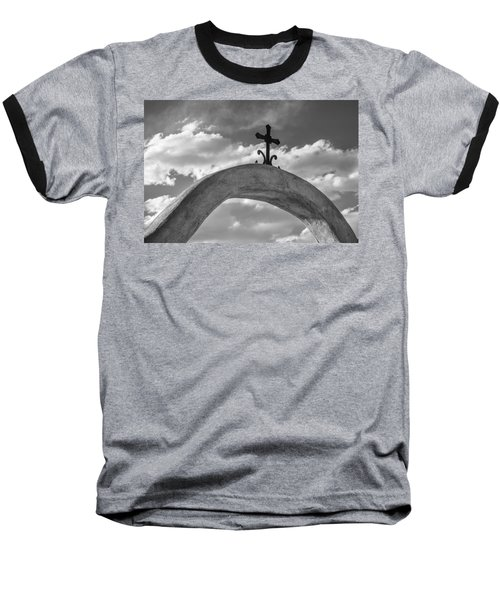 Cloud Cross Baseball T-Shirt by Steven Bateson