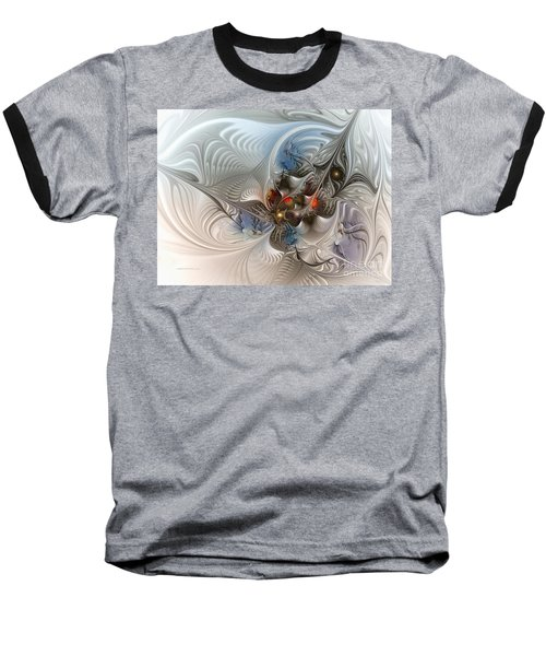 Cloud Cuckoo Land-fractal Art Baseball T-Shirt by Karin Kuhlmann