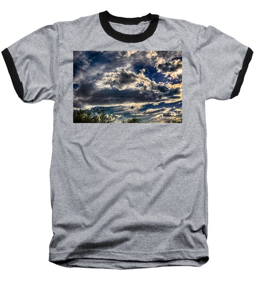 Baseball T-Shirt featuring the photograph Cloud Drama by Mark Myhaver