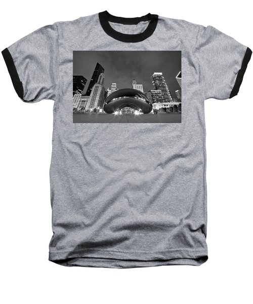 Cloud Gate And Skyline Baseball T-Shirt