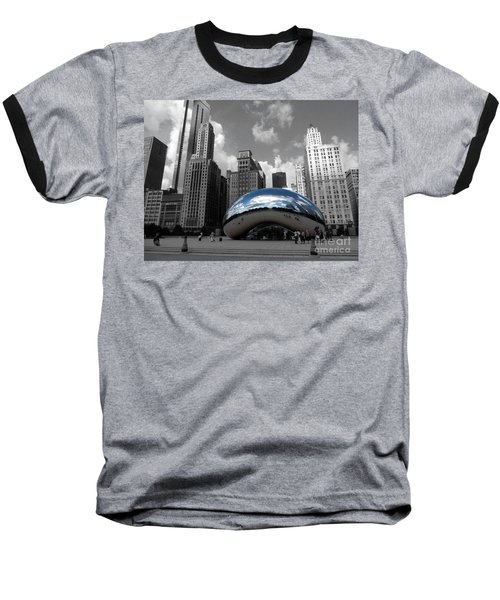 Cloud Gate B-w Chicago Baseball T-Shirt