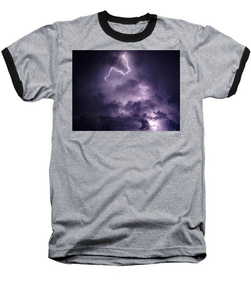 Baseball T-Shirt featuring the photograph Cloud Lightning by James Peterson