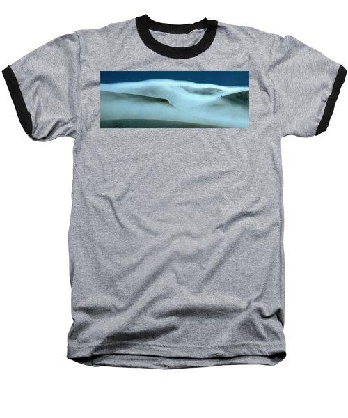 Cloud Mountain Baseball T-Shirt by Ed  Riche