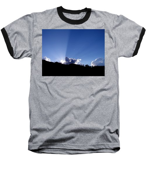 Cloud Rays Baseball T-Shirt by Craig T Burgwardt