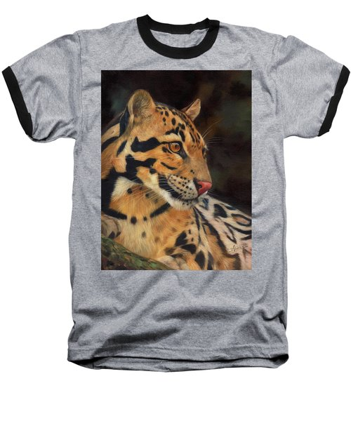 Clouded Leopard Baseball T-Shirt