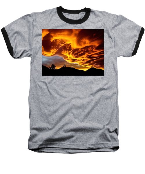 Baseball T-Shirt featuring the photograph Clouds 2 by Pamela Cooper
