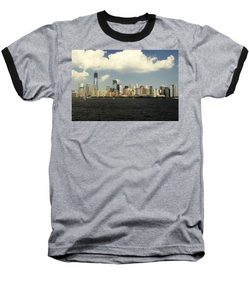 Clouds Over New York Skyline Baseball T-Shirt