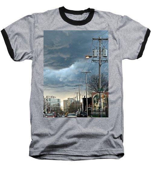 Clouds Over Philadelphia Baseball T-Shirt