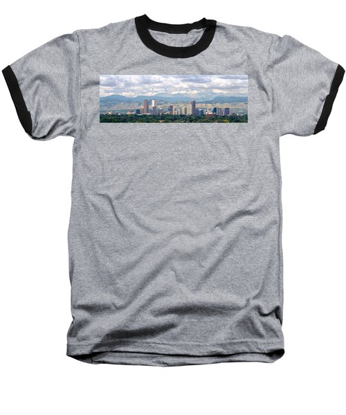 Clouds Over Skyline And Mountains Baseball T-Shirt