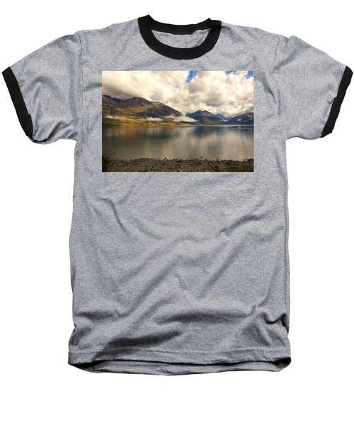 Baseball T-Shirt featuring the photograph Clouds Over Wakatipu #1 by Stuart Litoff