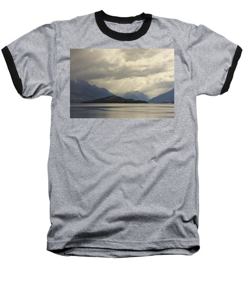 Baseball T-Shirt featuring the photograph Clouds Over Wakatipu #2 by Stuart Litoff