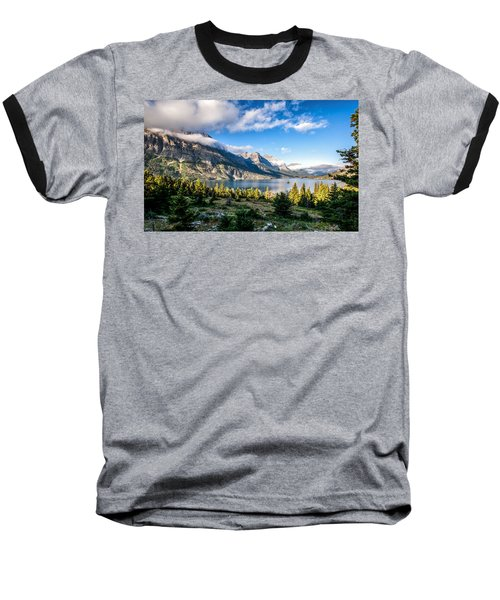 Clouds Roll In Baseball T-Shirt by Aaron Aldrich