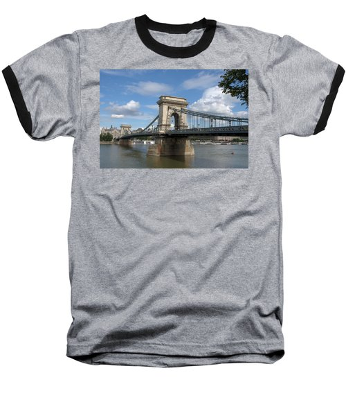 Baseball T-Shirt featuring the photograph Clouds Sky Water And Bridge by Caroline Stella