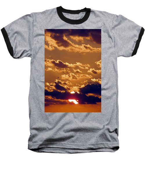 Key West Cloudy Sunset Baseball T-Shirt