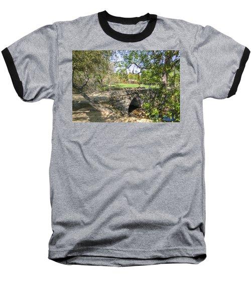 Clover Valley Park Bridge Baseball T-Shirt by Jim Thompson