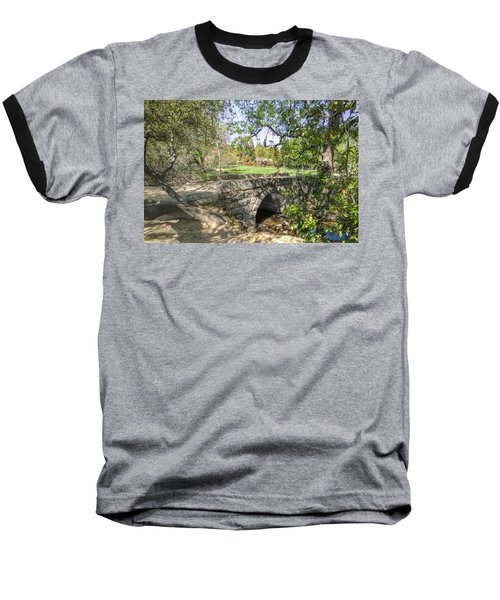 Baseball T-Shirt featuring the photograph Clover Valley Park Bridge by Jim Thompson