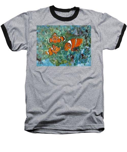 Clown Fish Art Original Tropical Painting Baseball T-Shirt