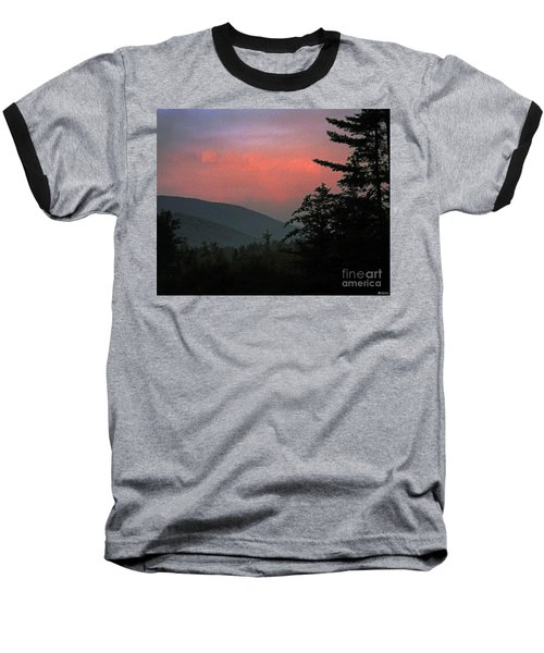 Clucks West Ossipee Mountain Sundown Baseball T-Shirt