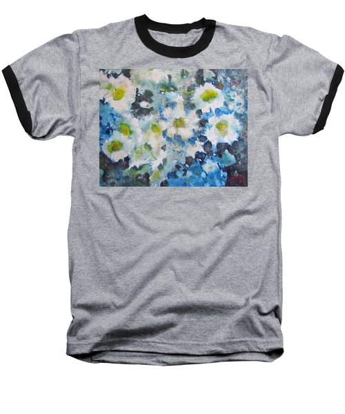 Cluster Of Daisies Baseball T-Shirt by Richard James Digance