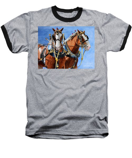 Clydesdale Duo Baseball T-Shirt